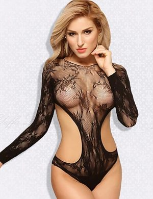 Body Arrastão Bodystocking Anchor Preto Sexy - Lingerie Sexy